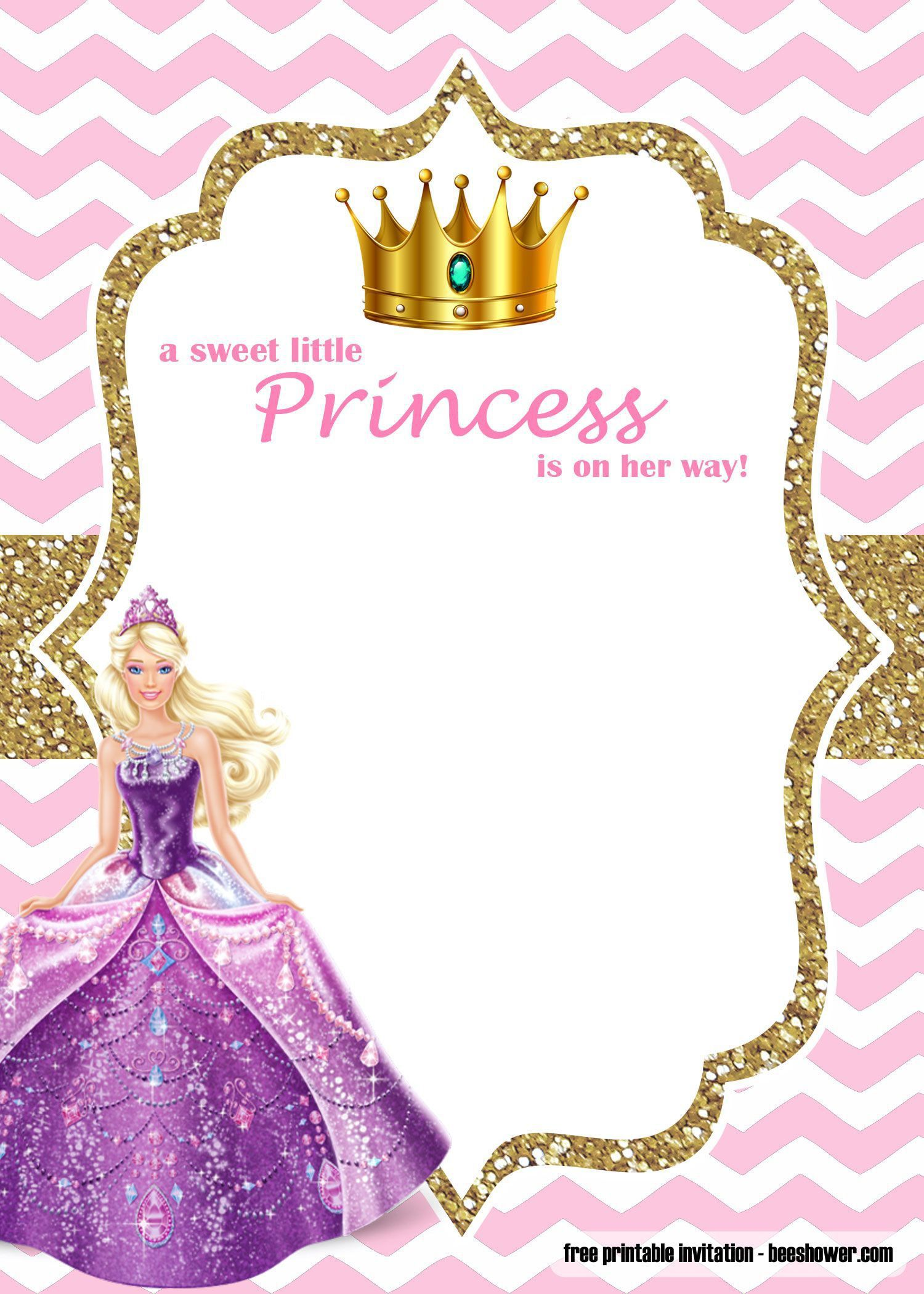 000 Best Free Princes Baby Shower Invitation Template For Word Highest Clarity Full