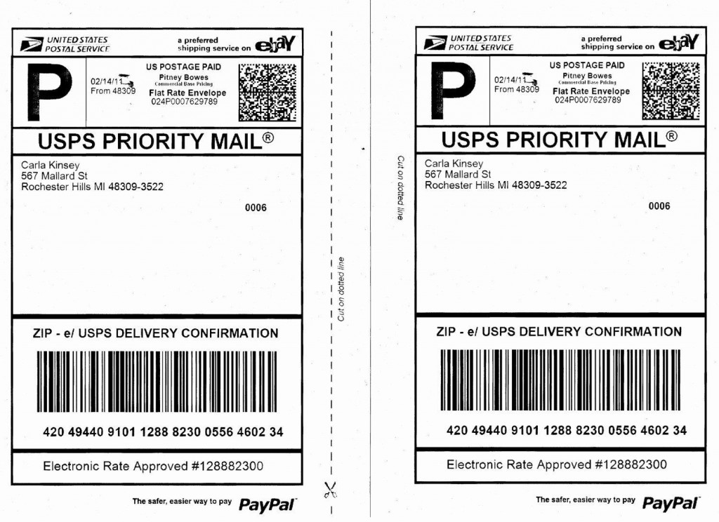 000 Best Free Usp Shipping Label Template Highest Clarity Large