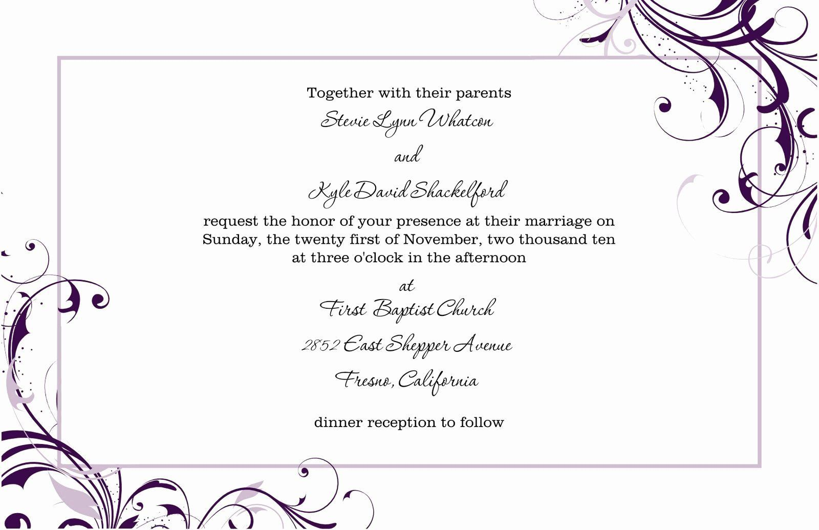 000 Best Free Wedding Invitation Template For Word 2019 Concept Full
