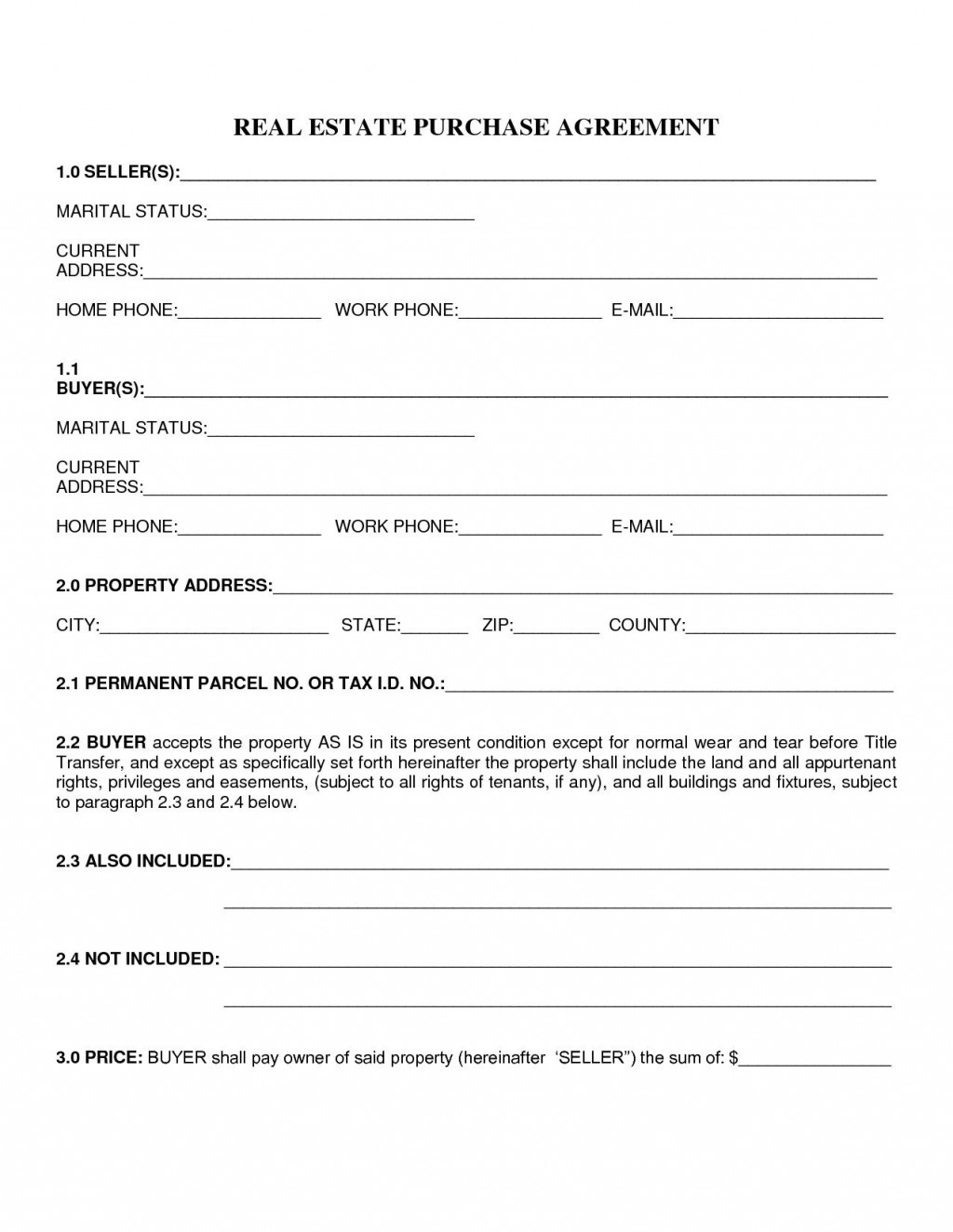 000 Best Home Purchase Contract Form Image  Virginia Lease ToLarge