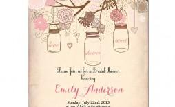 000 Best Mason Jar Invitation Template Photo  Free Wedding Shower Rustic