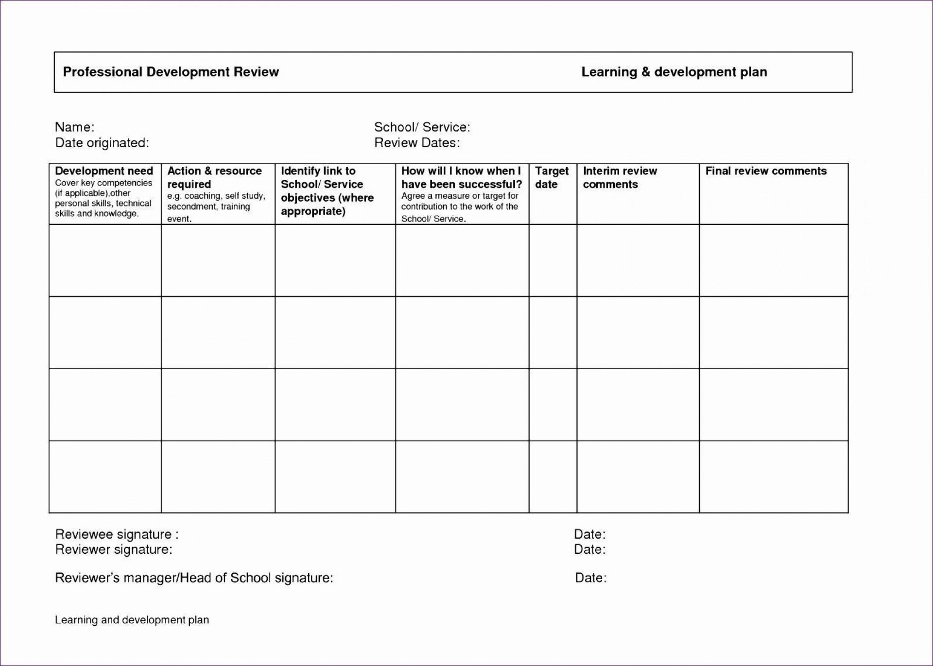 000 Best Personal Development Plan Template Excel Photo  Sample1920