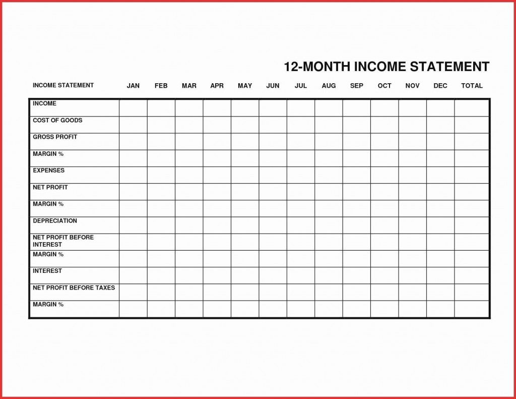 000 Best Personal Income Expense Statement Template Excel Sample Large
