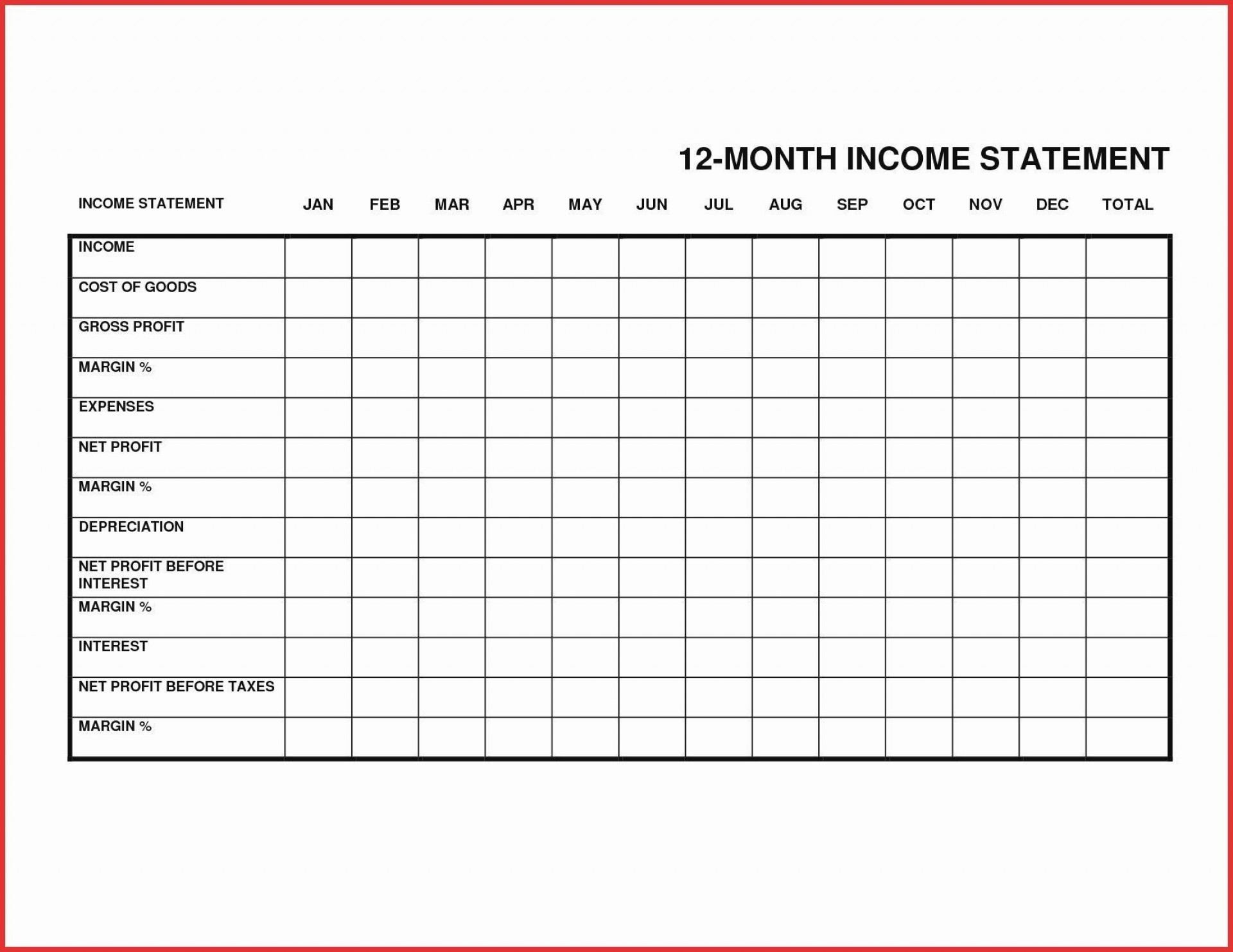 000 Best Personal Income Expense Statement Template Excel Sample 1920