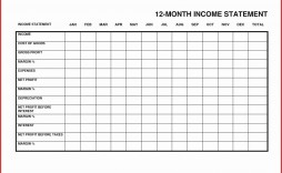 000 Best Personal Income Expense Statement Template Excel Sample
