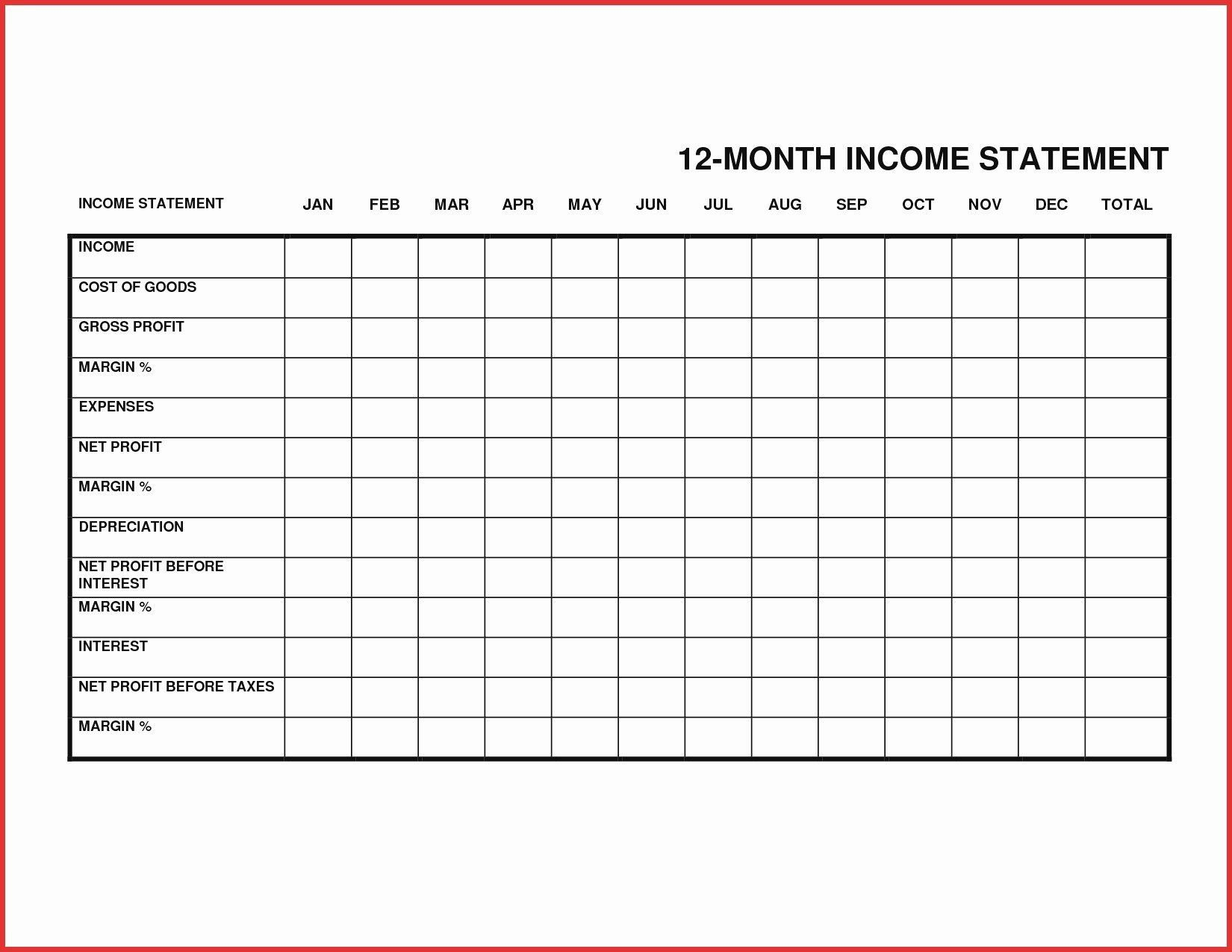 000 Best Personal Income Expense Statement Template Excel Sample Full