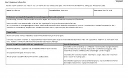 000 Best Professional Development Plan Template Highest Quality  Example For Manager Excel