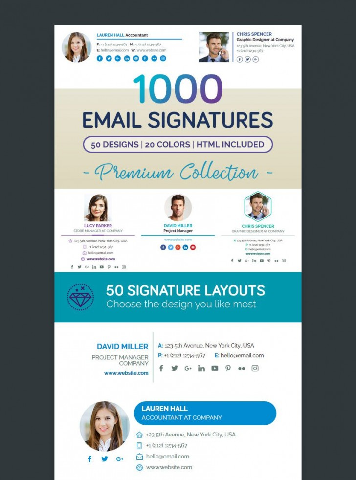 000 Best Professional Email Signature Template Concept  Busines Download728
