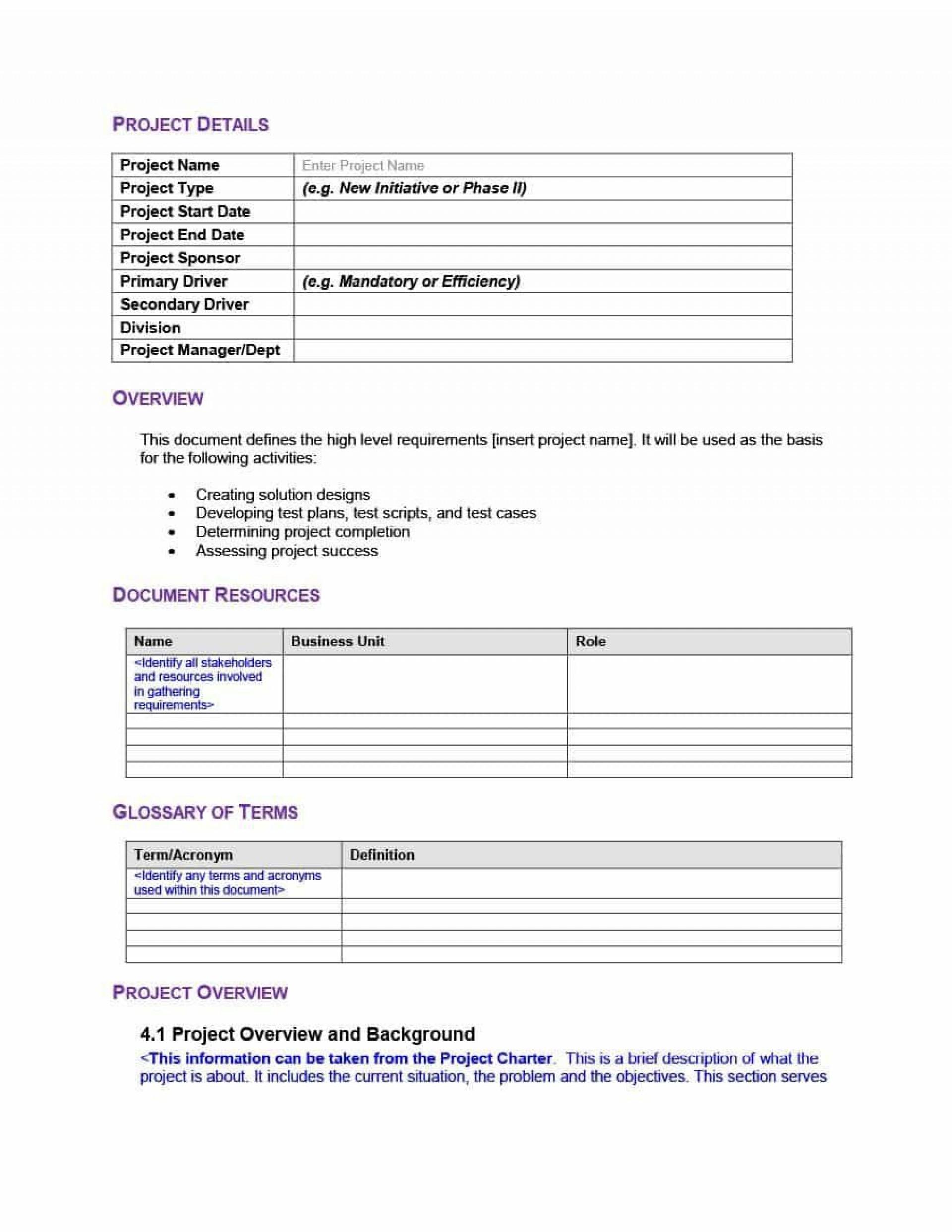 000 Best Simple Test Plan Template High Resolution  Software Uat1920