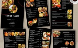 000 Best Take Out Menu Template Photo  Tri Fold Free Word Restaurant Away