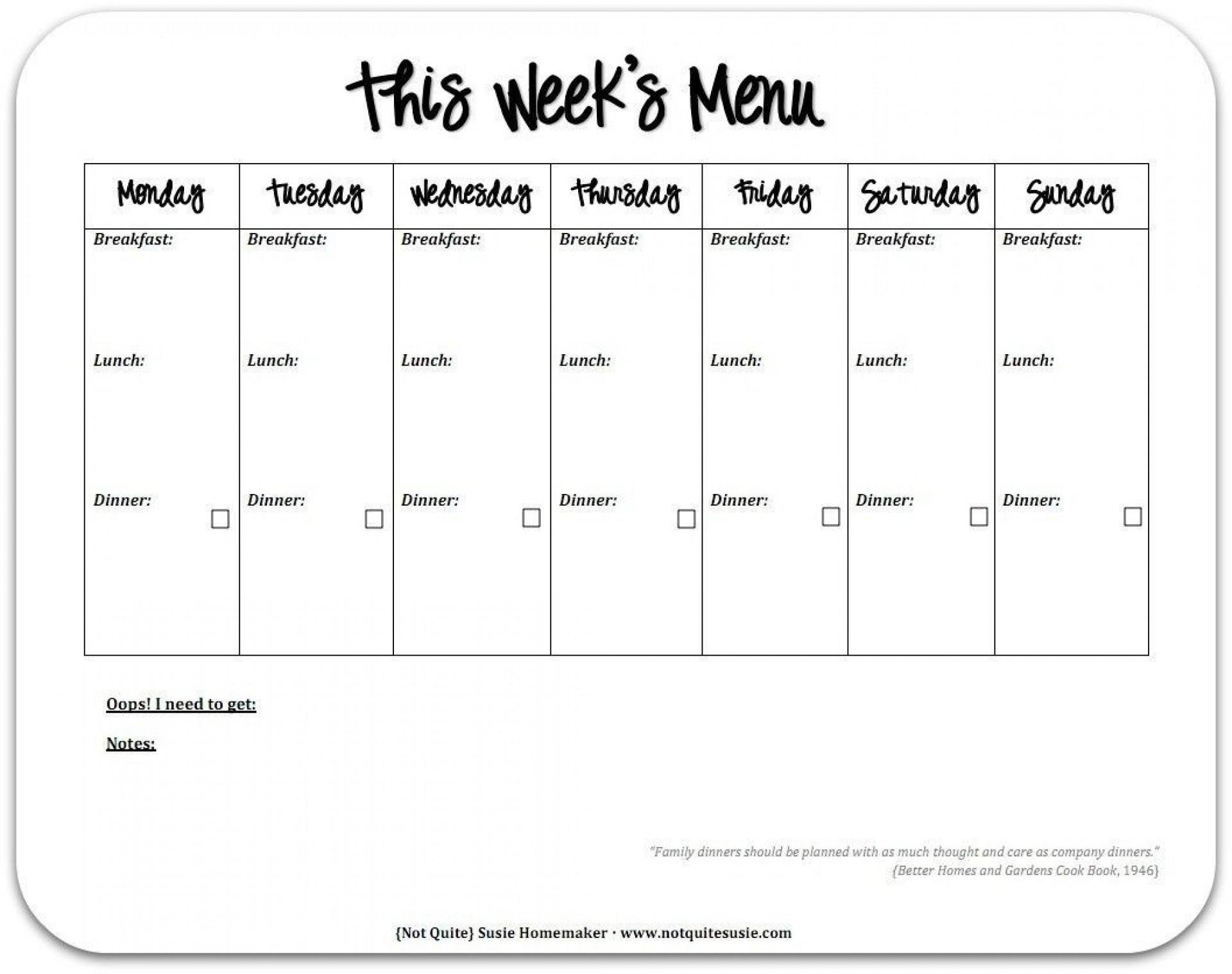 000 Breathtaking 2 Week Meal Plan Printable Concept 1920