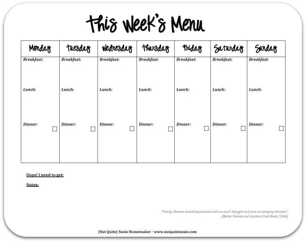 000 Breathtaking 2 Week Meal Plan Printable Concept Full