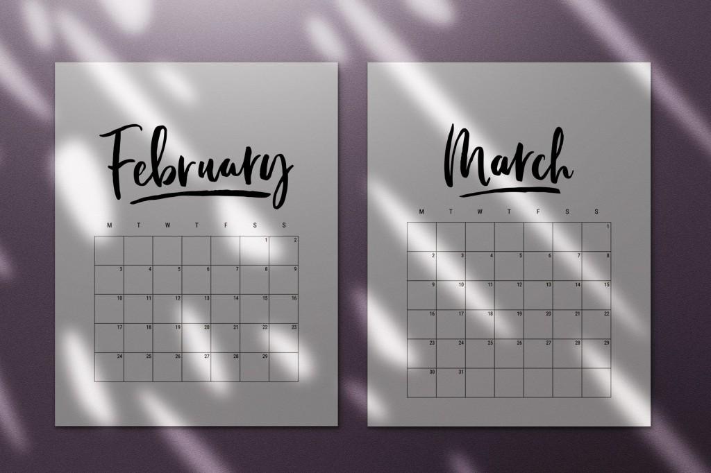 000 Breathtaking 2020 Calendar Template Indesign Image  Adobe FreeLarge