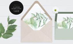 000 Breathtaking A7 Envelope Liner Template Square Flap Idea
