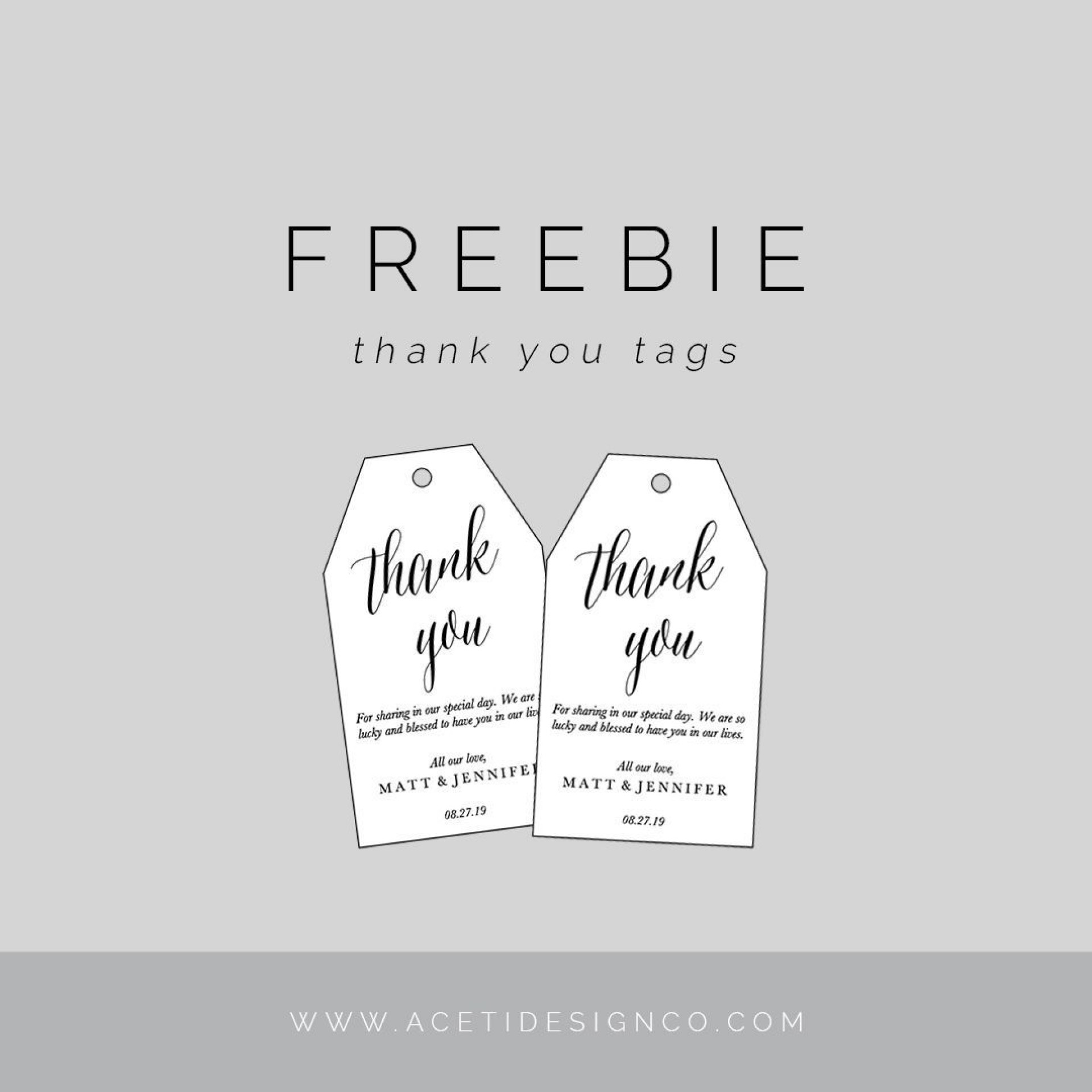 000 Breathtaking Free Printable Thank You Gift Tag Template Concept  Templates1920