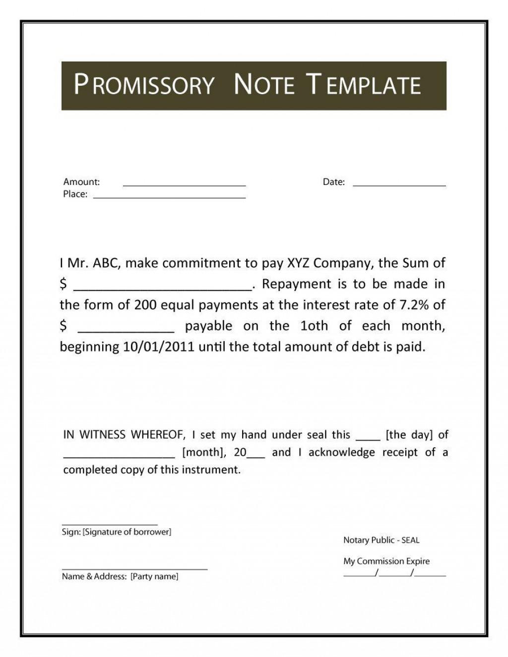 000 Breathtaking Free Promissory Note Template Word Image  Microsoft DocumentLarge