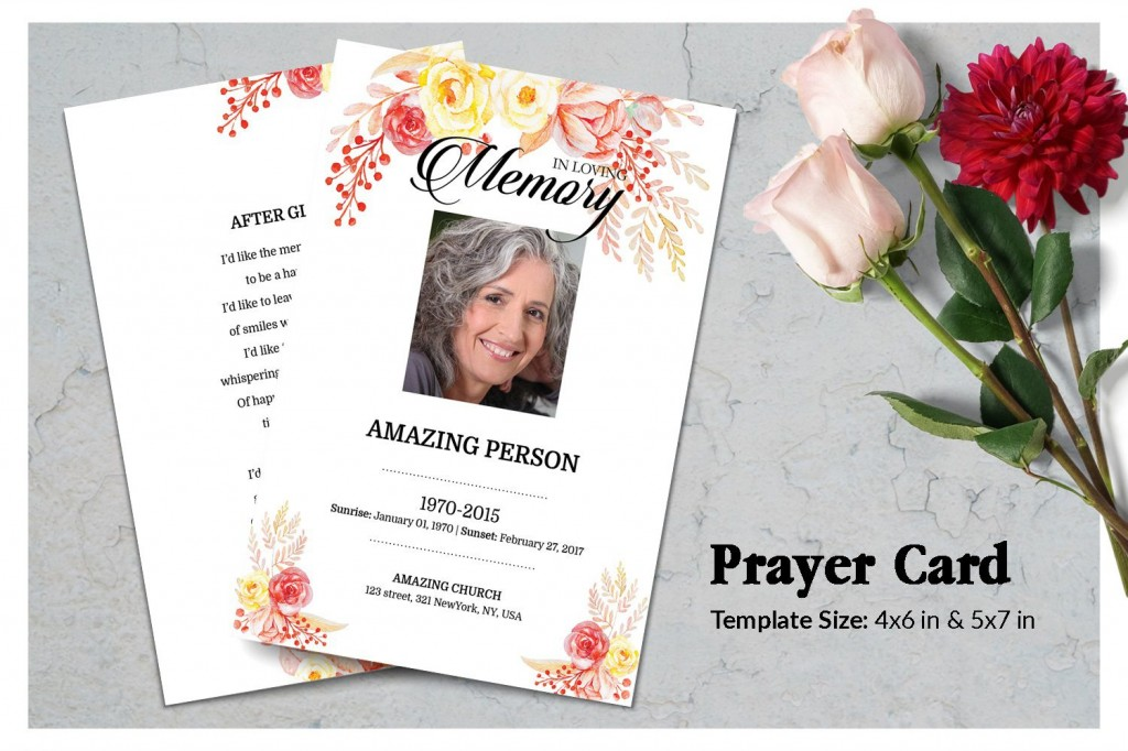 000 Breathtaking Funeral Prayer Card Template Highest Quality  Templates For Word FreeLarge