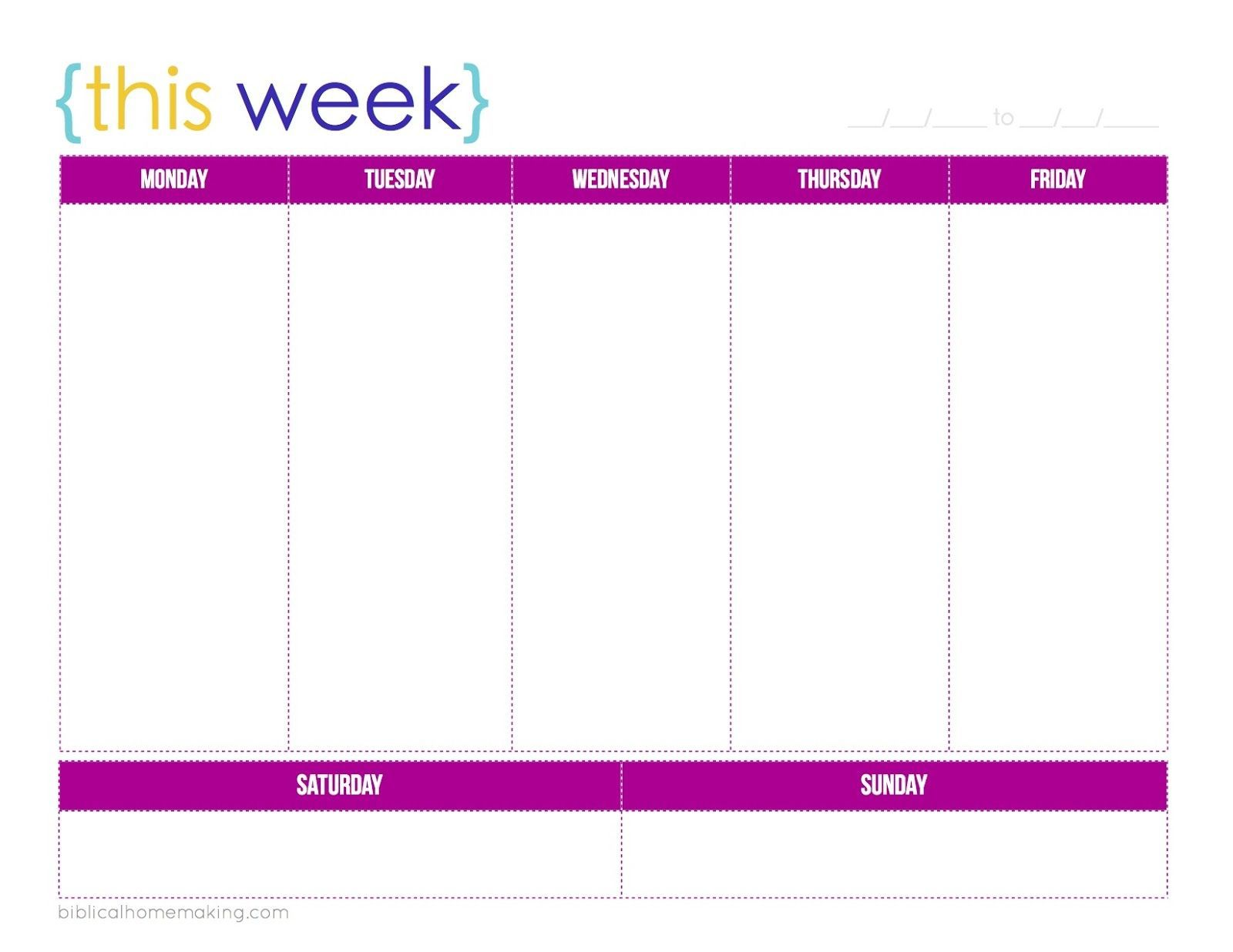 000 Breathtaking One Week Schedule Template Picture  Calendar Word AgendaFull