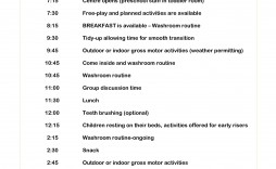 000 Breathtaking Preschool Daily Schedule Template Picture  Planner Routine Plan