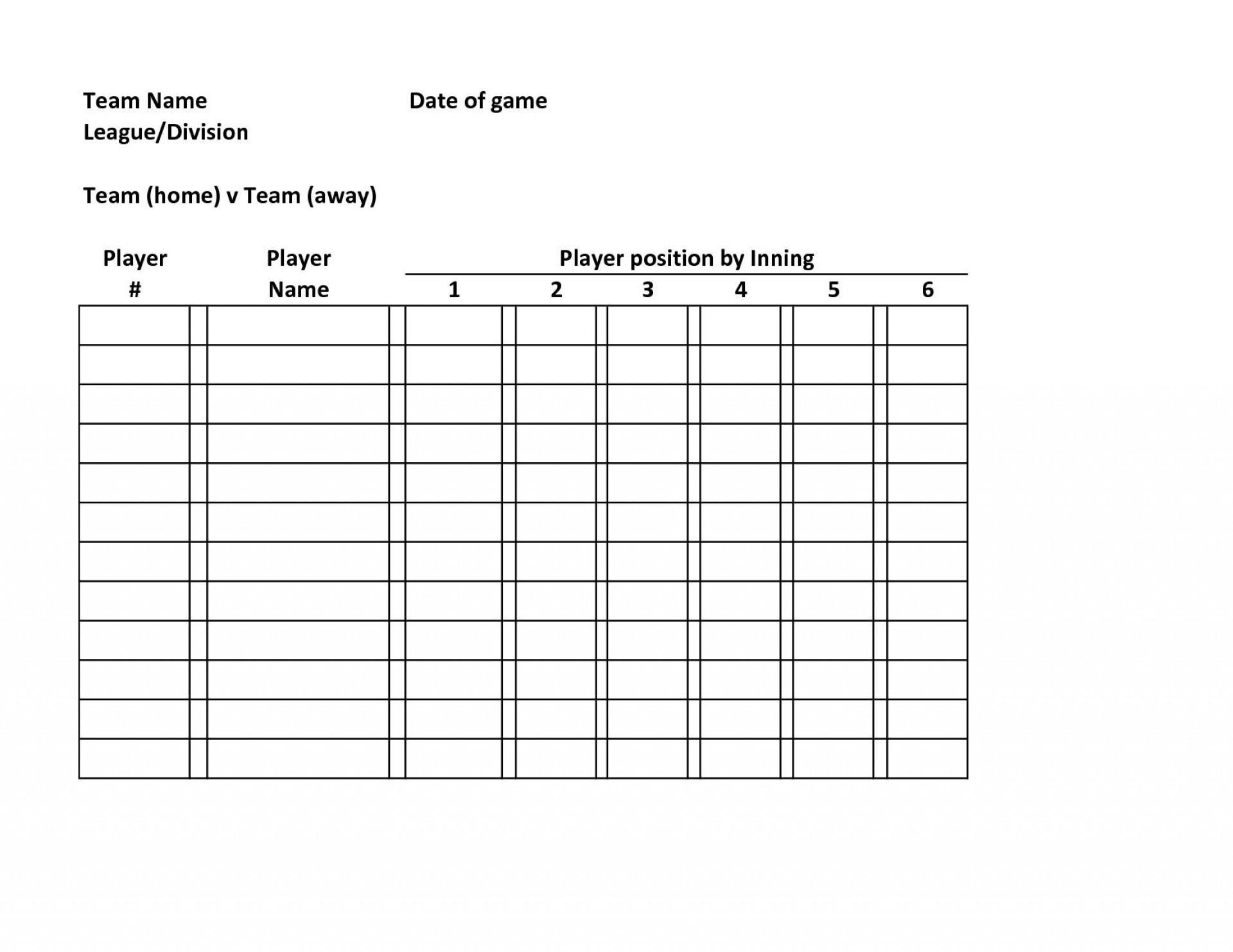 000 Breathtaking Softball Lineup Template Excel Highest Clarity  Batting Card Roster1920