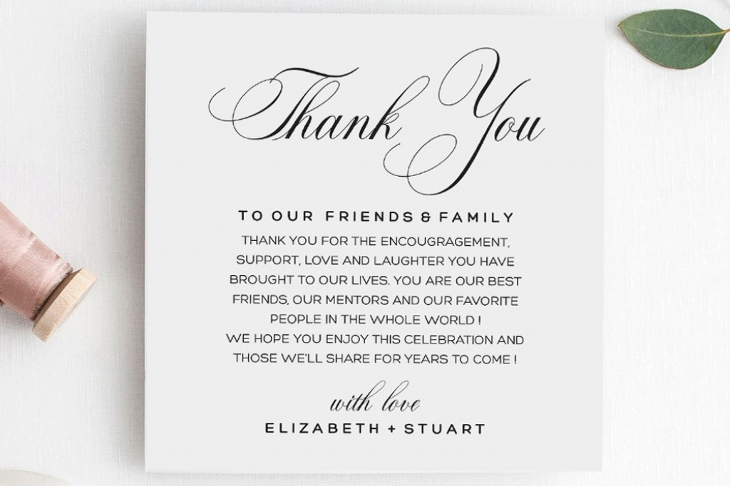 000 Breathtaking Wedding Thank You Note Template Photo  Templates Shower Card Etsy Bridal FormatLarge