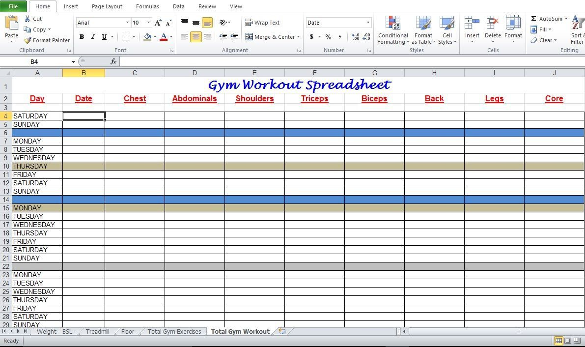 000 Breathtaking Workout Schedule Template Excel High Resolution  Training Plan Download Weekly PlannerFull