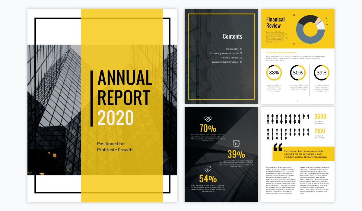 000 Dreaded Annual Report Design Template Concept  Templates Word Timeles Free Download InFull