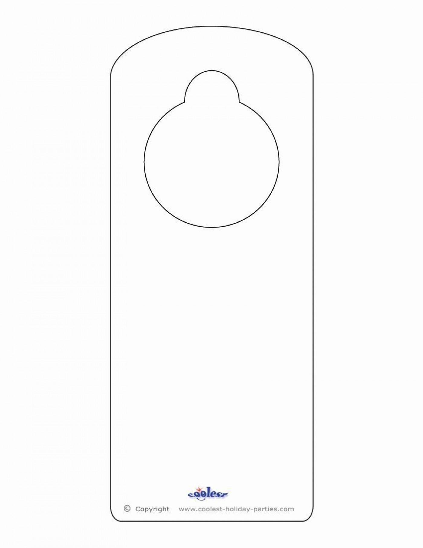 000 Dreaded Blank Door Hanger Template Free Picture 1400