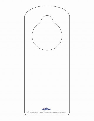 000 Dreaded Blank Door Hanger Template Free Picture 320