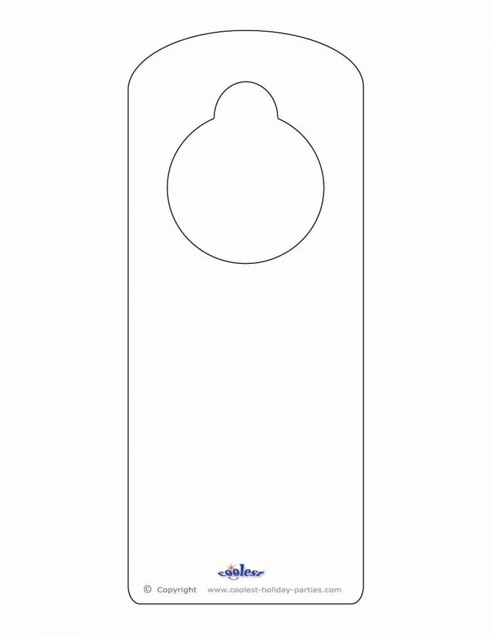000 Dreaded Blank Door Hanger Template Free Picture 960