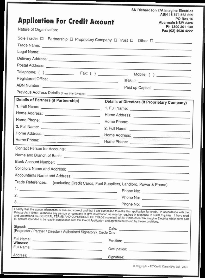 000 Dreaded Busines Credit Application Template Pdf High Resolution  FormFull