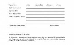000 Dreaded Credit Card Form Template Excel Inspiration  Authorization Payment