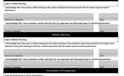 000 Dreaded Disciplinary Write Up Template High Definition  Templates Employer Form