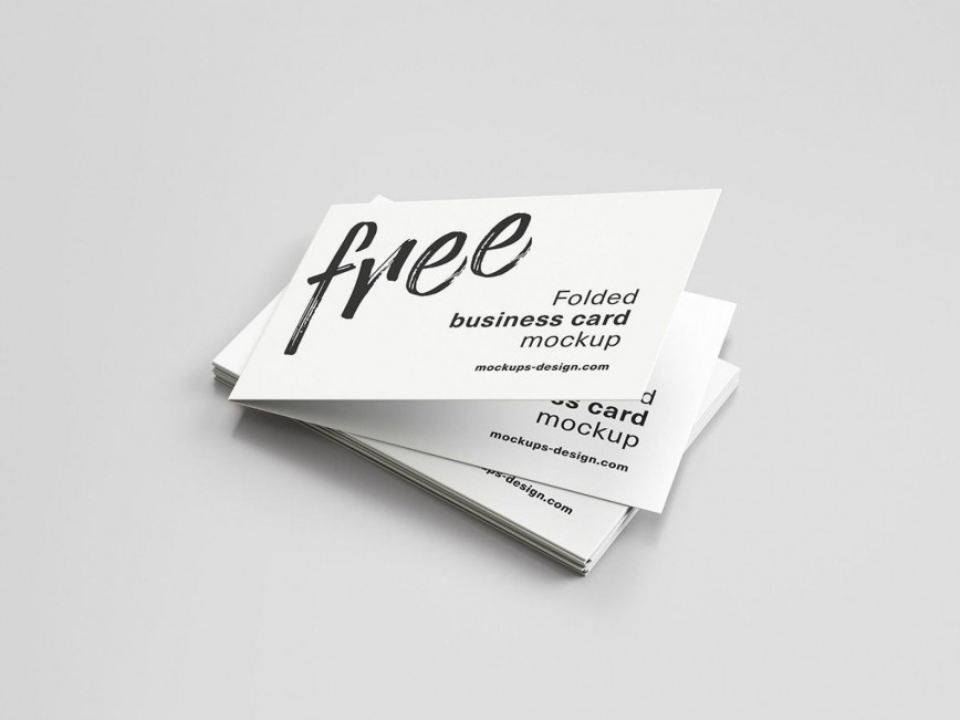 000 Dreaded Folding Busines Card Template Picture  Foldable Word Folded Photoshop