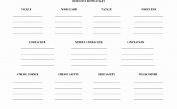 000 Dreaded Football Depth Chart Template Highest Quality  American Excel Format Pdf Blank