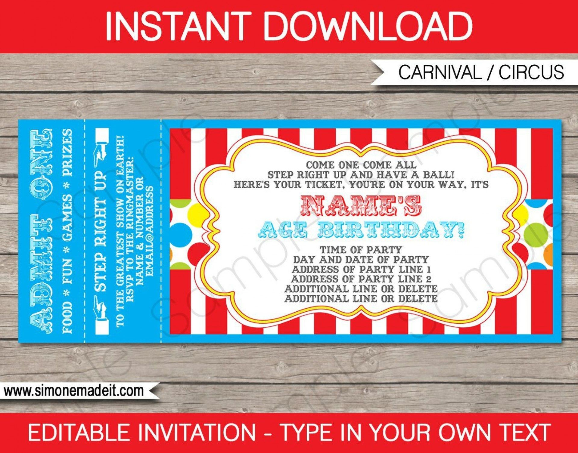 000 Dreaded Football Ticket Invitation Template Free Highest Quality  Printable Party Download1920