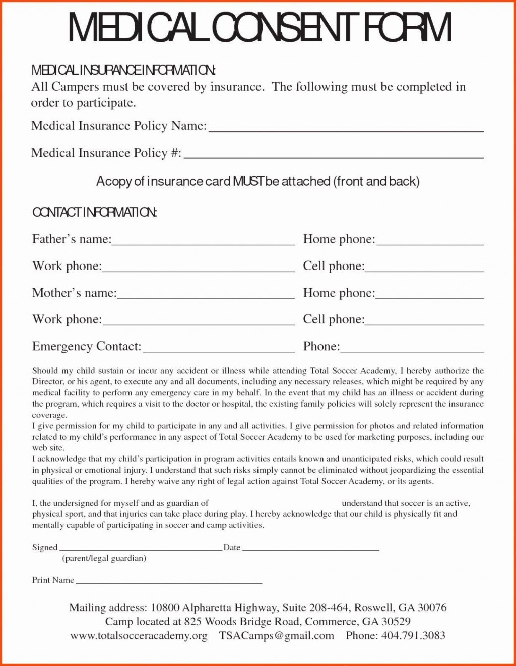 000 Dreaded Free Child Medical Consent Form Template High Resolution  PdfLarge