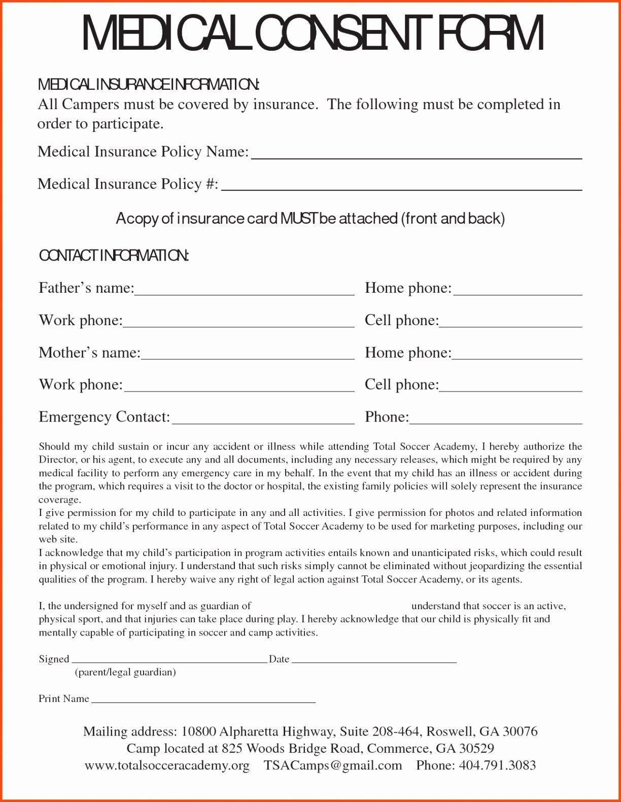 000 Dreaded Free Child Medical Consent Form Template High Resolution  PdfFull