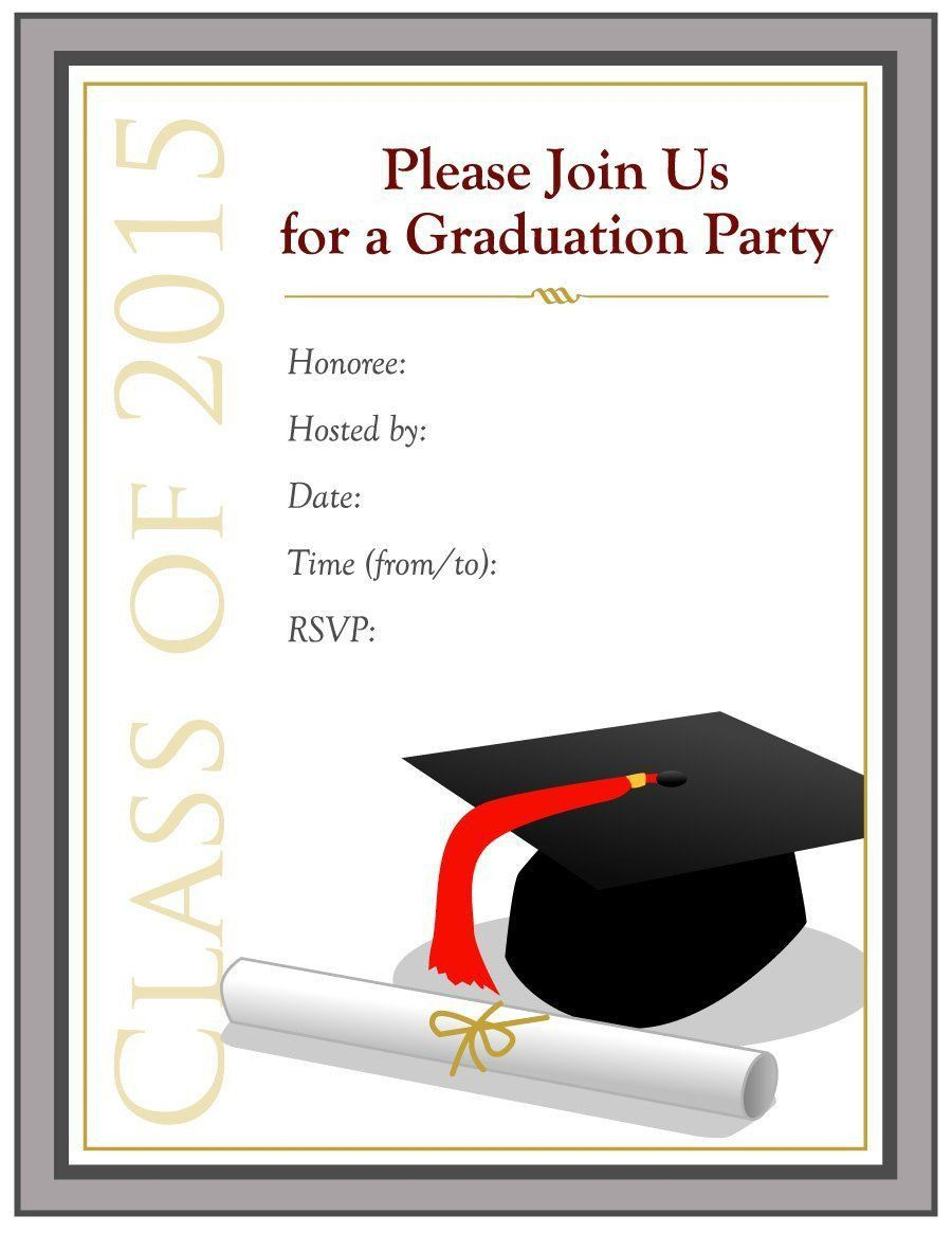 000 Dreaded Free Printable Graduation Invitation Template High Definition  Preschool Card 2019Full