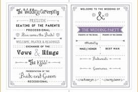000 Dreaded Free Template For Wedding Ceremony Program Inspiration