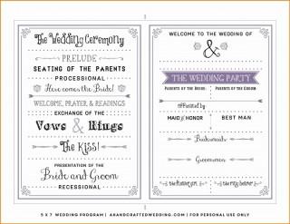 000 Dreaded Free Template For Wedding Ceremony Program Inspiration 320