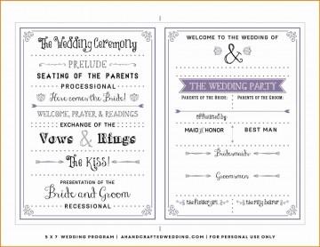 000 Dreaded Free Template For Wedding Ceremony Program Inspiration 360