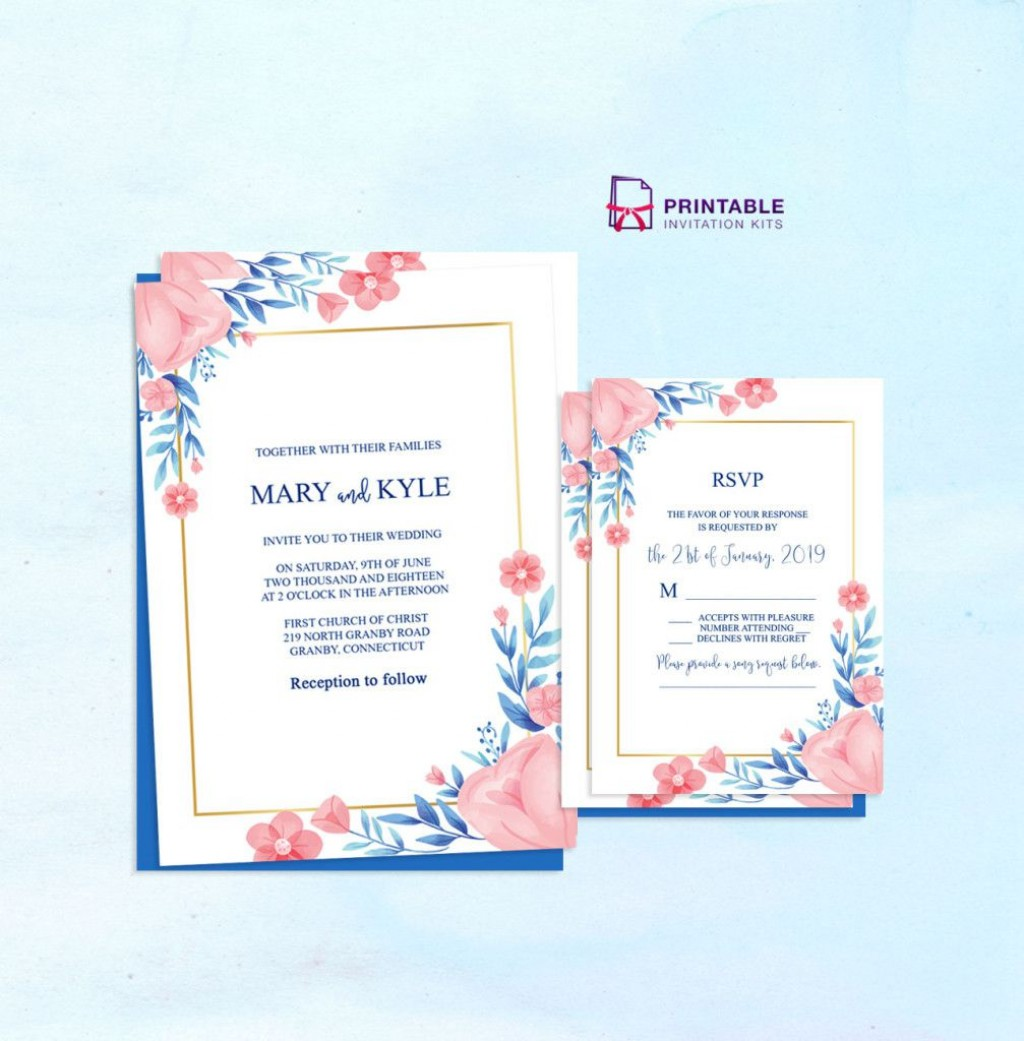 000 Dreaded Free Wedding Invitation Template Printable High Definition  For Microsoft Word MacLarge