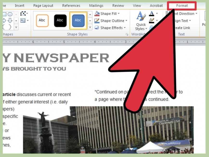 Newspaper Template Free Word from www.addictionary.org