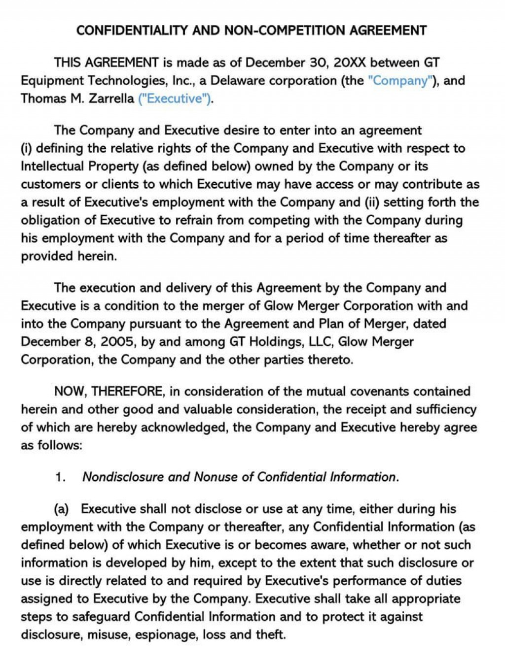 000 Dreaded Non Compete Agreement Template Word Example  Microsoft Non-compete FreeLarge