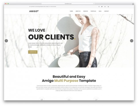 000 Dreaded One Page Website Template Free Download Html5 High Resolution  Parallax480