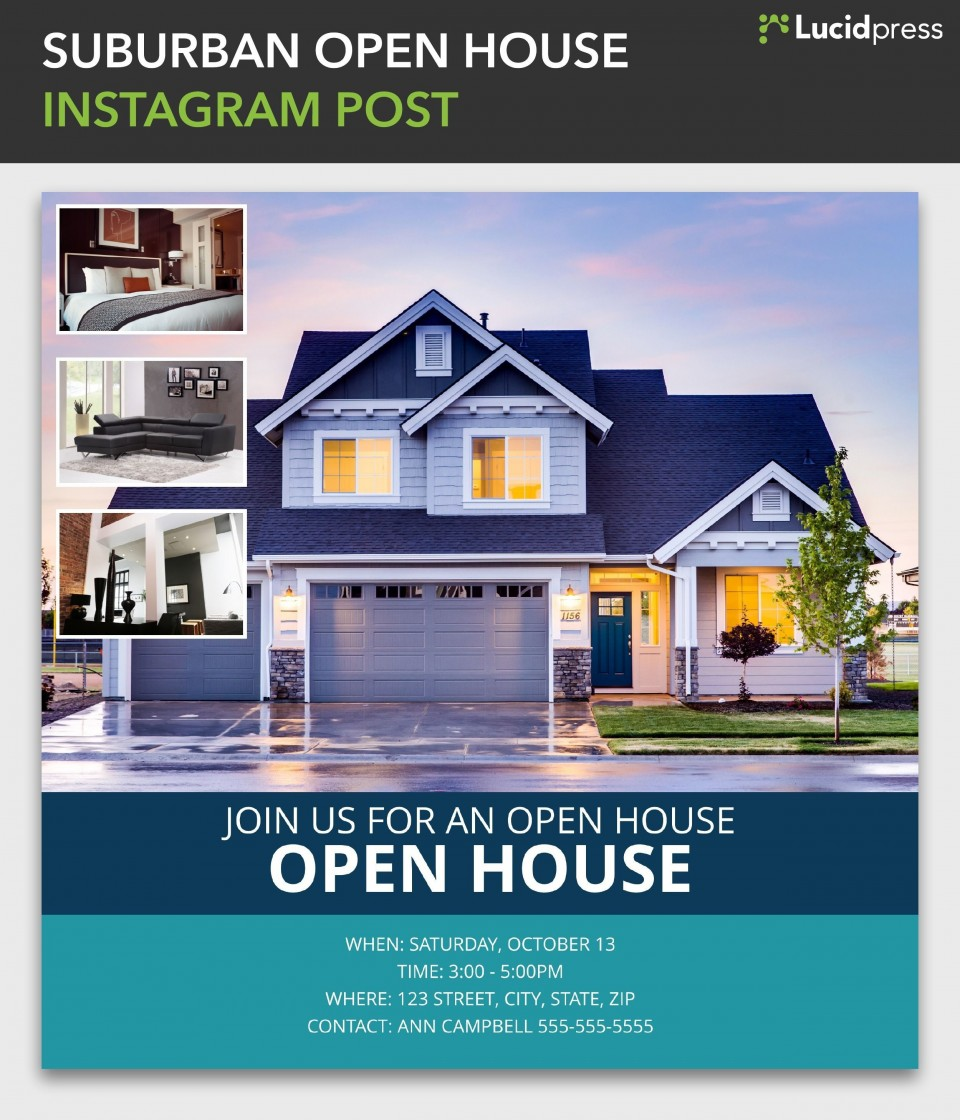 000 Dreaded Open House Flyer Template Word High Resolution  Free Microsoft960