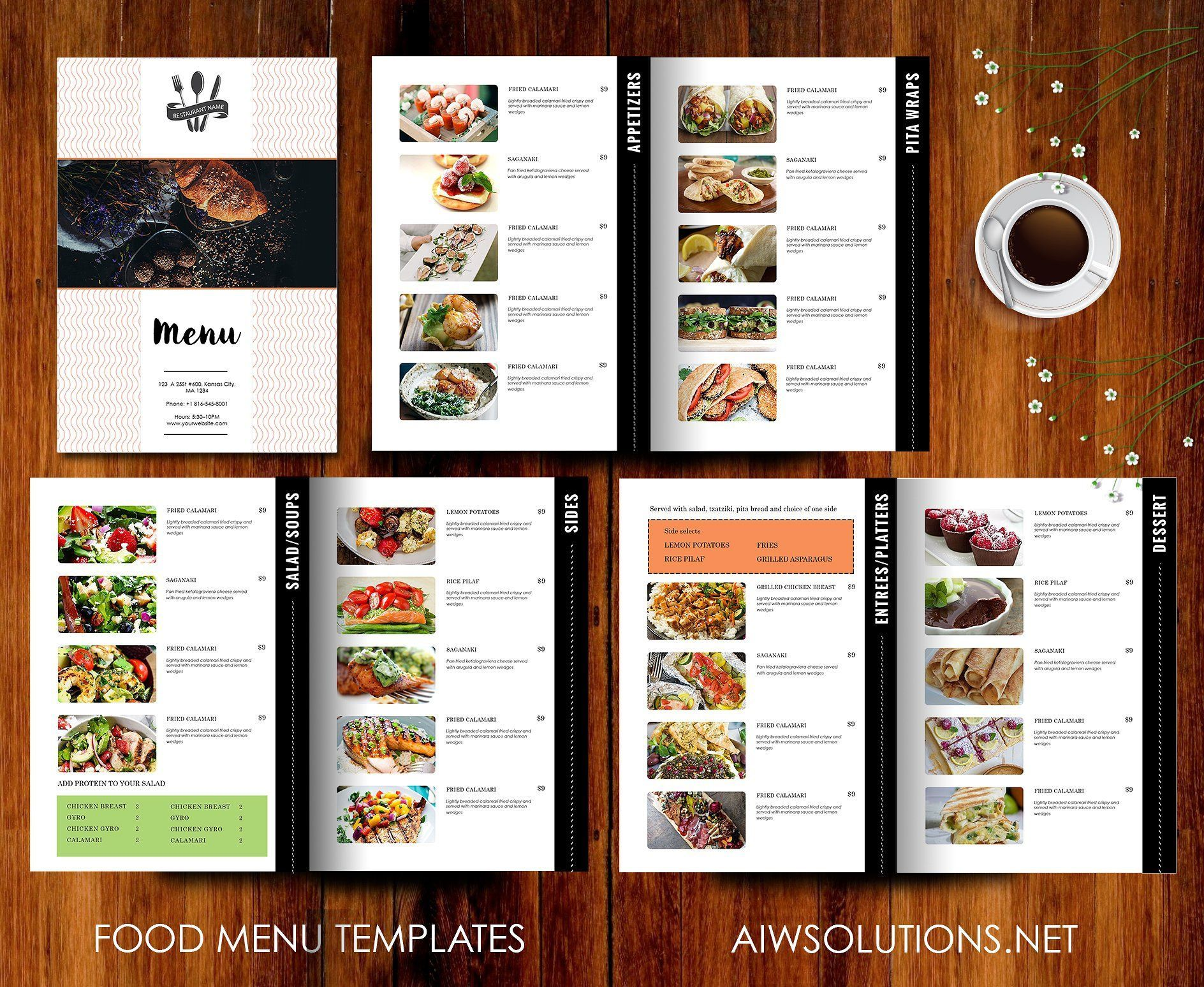 000 Dreaded Restaurant Menu Template Free High Resolution  Card Download Indesign WordFull