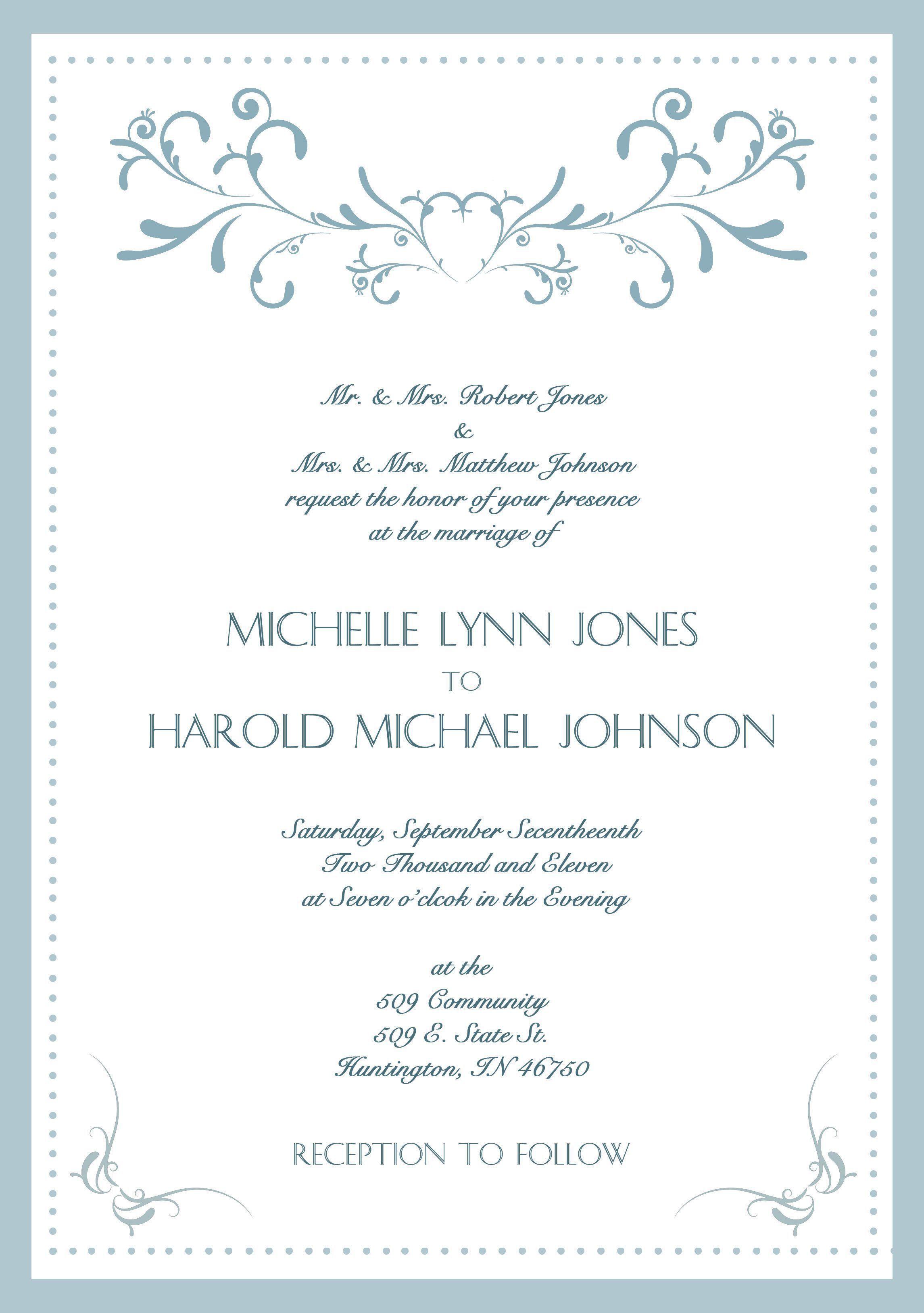 000 Dreaded Sample Wedding Invitation Card Template Photo  Templates Free Design Response WordingFull