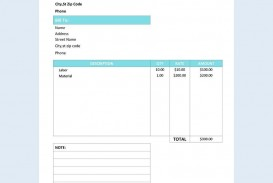 000 Dreaded Service Invoice Template Free High Definition  Rendered Word Auto Download